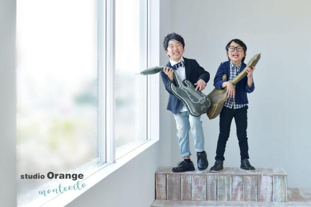 川西市 七五三 5歳 男の子 兄弟写真