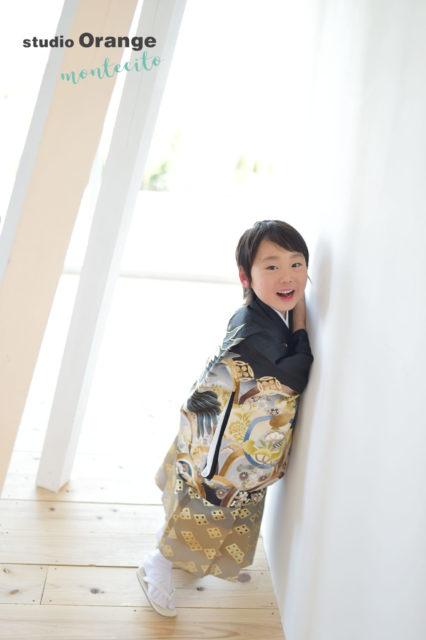 川西市 七五三 5歳 男の子 黒の羽織袴