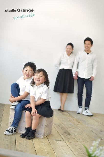 伊丹市 入学記念 家族写真