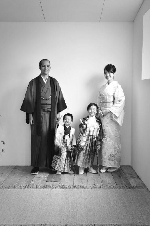 宝塚市 七五三 3歳男の子 5歳男の子 家族写真