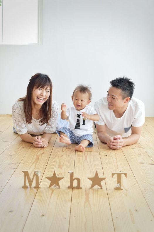 宝塚市 バースデーフォト 1歳 男の子 家族写真