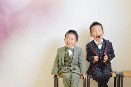 宝塚市 七五三 5歳 3歳 兄弟写真