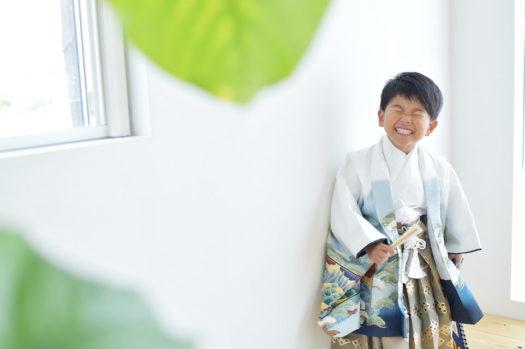 宝塚市 七五三 5歳 男の子 白い着物