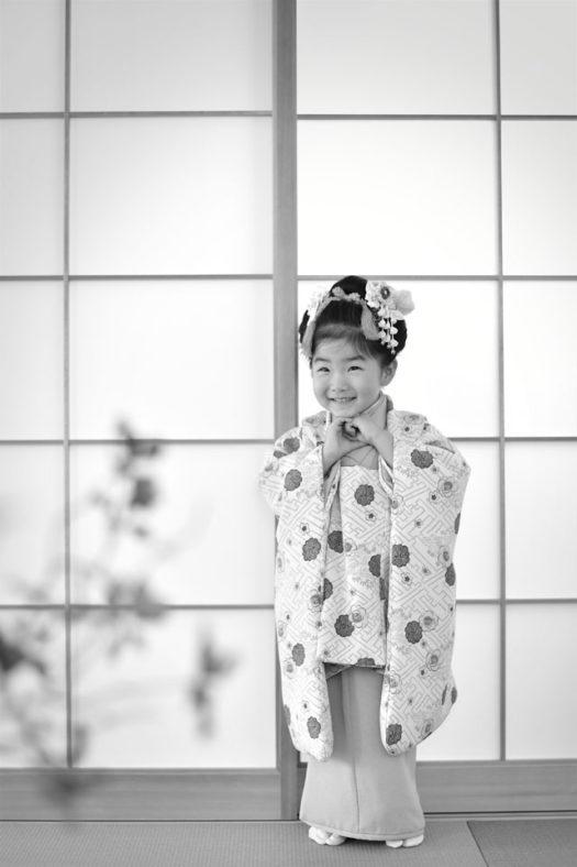 宝塚 七五三 日本髪 被布コート 3歳