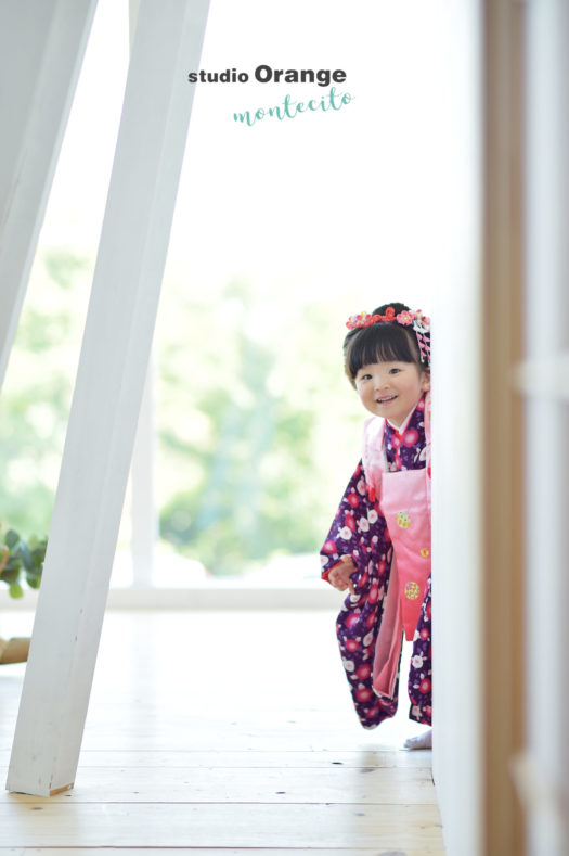池田市 七五三 日本髪 3歳