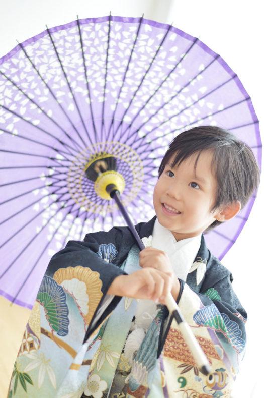 宝塚 七五三 5歳 黒の着物