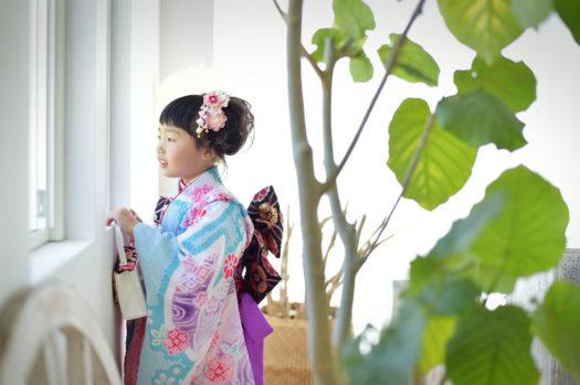 宝塚 七五三 7歳女の子 水色の初着