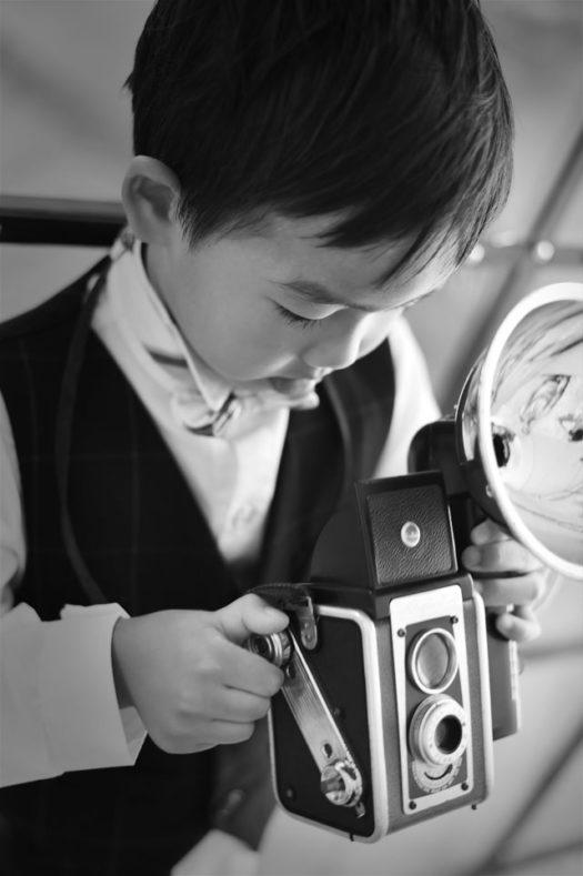 宝塚 七五三 5歳男の子 家族写真 自然な雰囲気