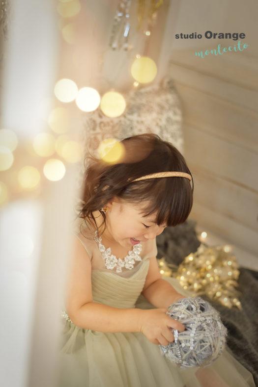 武庫之荘 七五三 3歳 グレーのドレス
