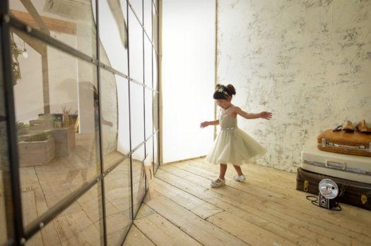 宝塚 3歳 グレーのドレス