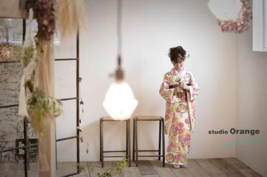 宝塚市 十歳記念 1/2成人式 10才記念 白の着物