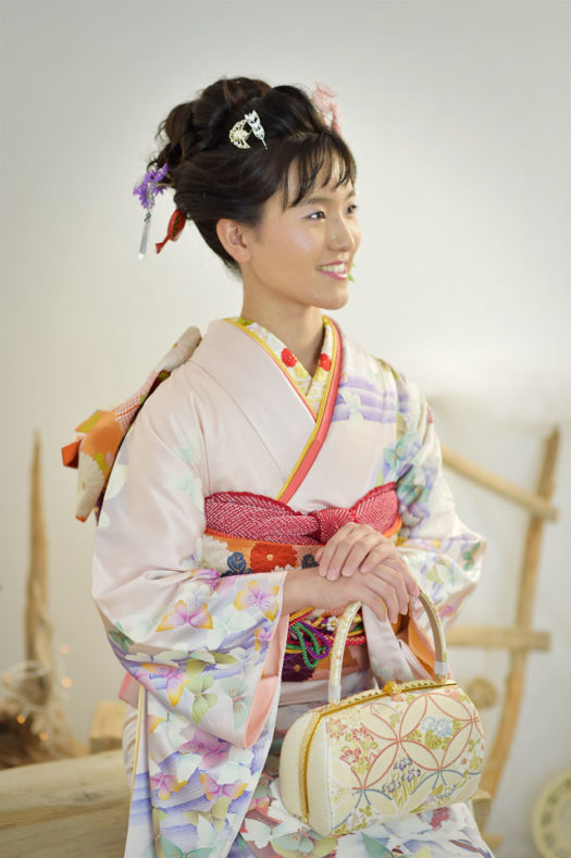 宝塚 成人式 薄紫の振袖