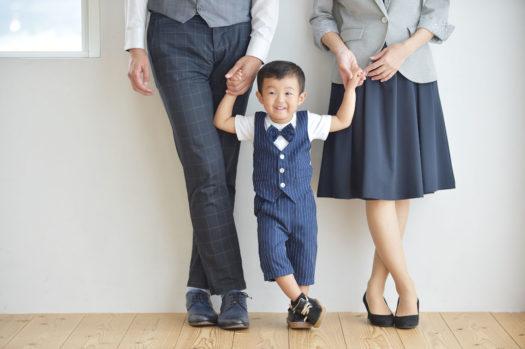 宝塚市 3歳男の子七五三 家族写真