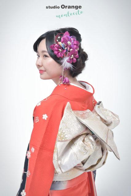 宝塚市 成人式 赤の着物