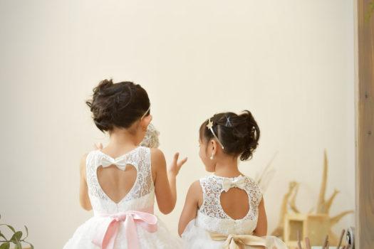 宝塚市  七五三 7歳 白のドレス