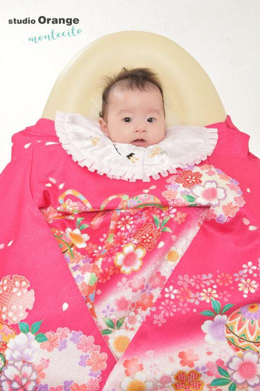 中山寺 お宮参り ピンクの着物