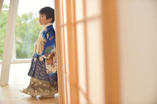 宝塚 七五三 青の着物