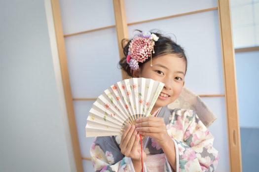 宝塚 七五三 7歳 グレーの着物 ジルスチュアート