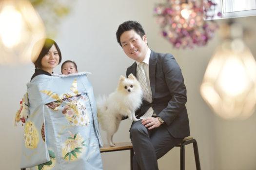 宝塚 お宮参り 家族写真