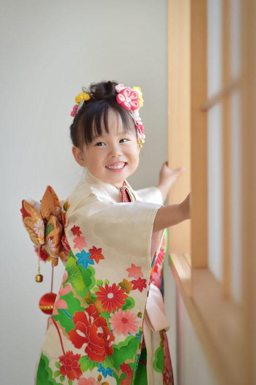 中山寺 七五三 3歳女の子 帯