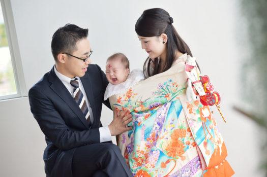 宝塚市 お宮参り 初着 着物 赤ちゃん