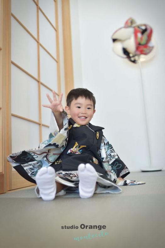 宝塚 七五三 3歳 男児被布