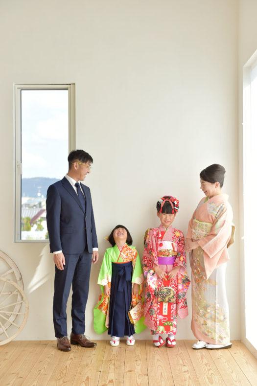 滋賀 大津市 七五三 家族写真 着物