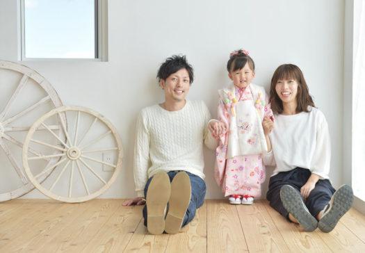 宝塚市 七五三 自然な家族写真