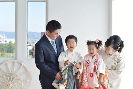 宝塚市写真館 七五三 家族写真