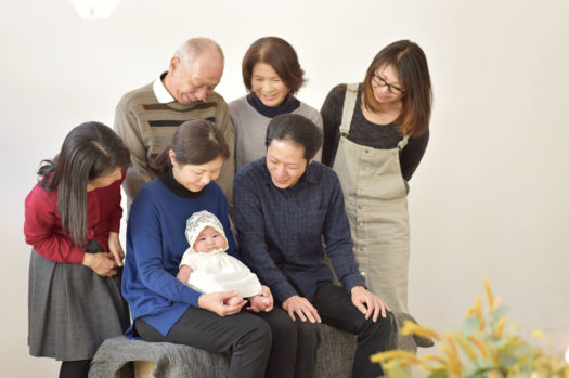 宝塚市 お宮参り 家族写真