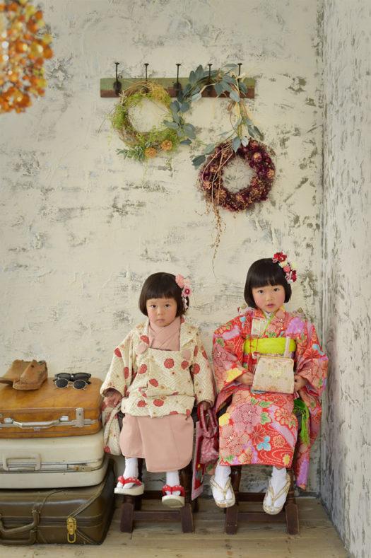 宝塚市 七五三 ピンクの被布