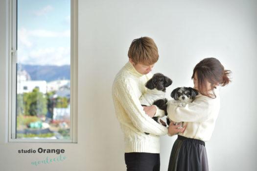 宝塚市 犬と撮れる家族写真