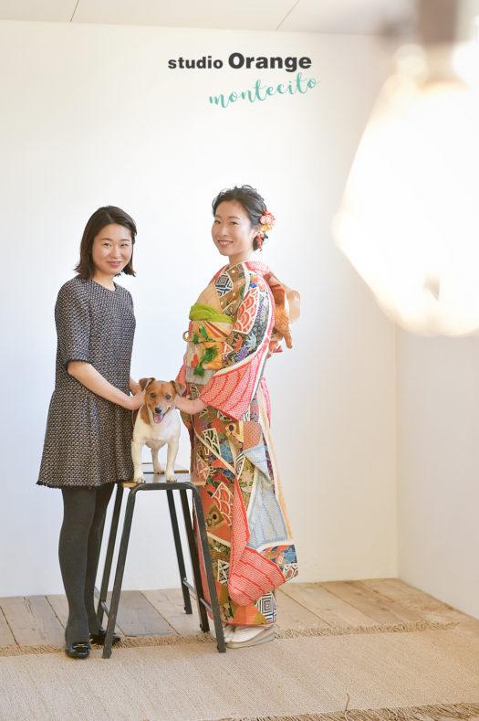 成人式 犬と撮れる写真館
