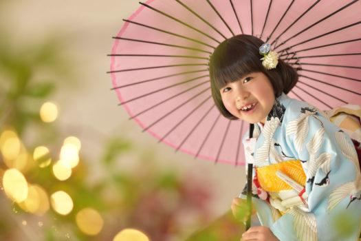 宝塚市 七五三 7才 鶴の着物