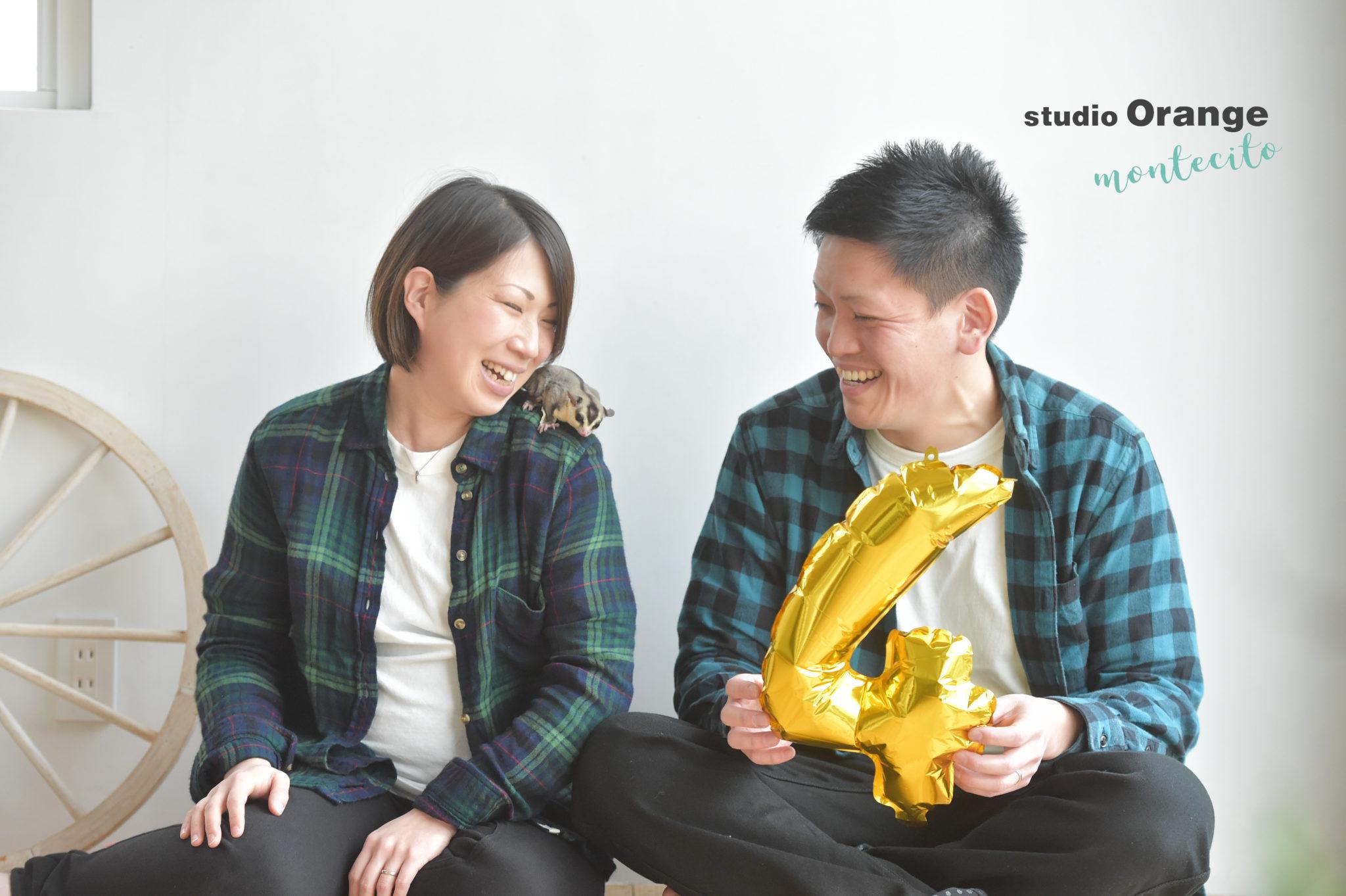 宝塚市 ペットフォト フクロモモンガ 家族写真