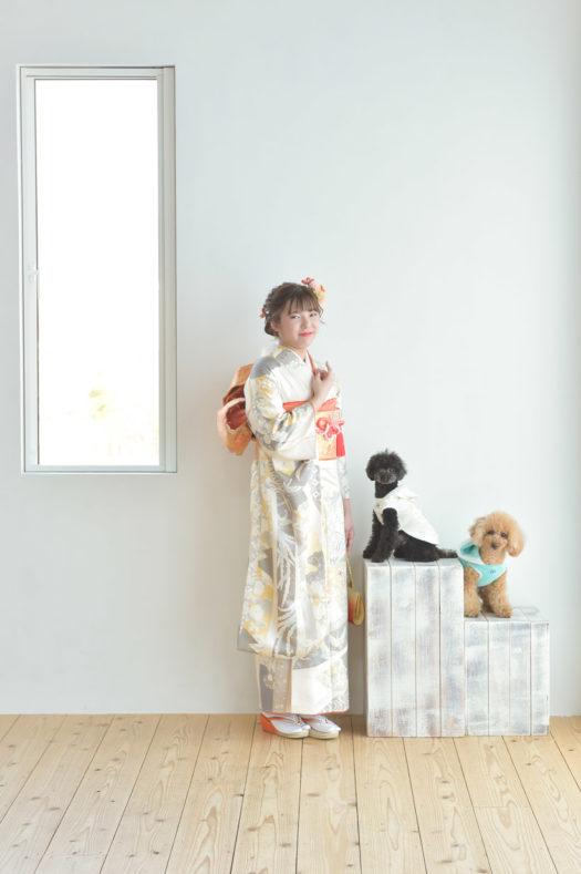 宝塚市 成人記念 犬と写真撮影 トイプードル