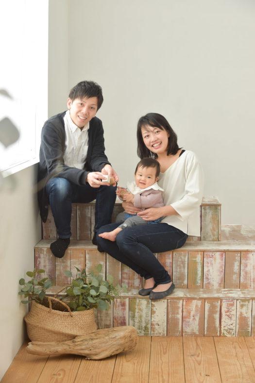 川西市 バースデーフォト 一歳お誕生日 家族写真