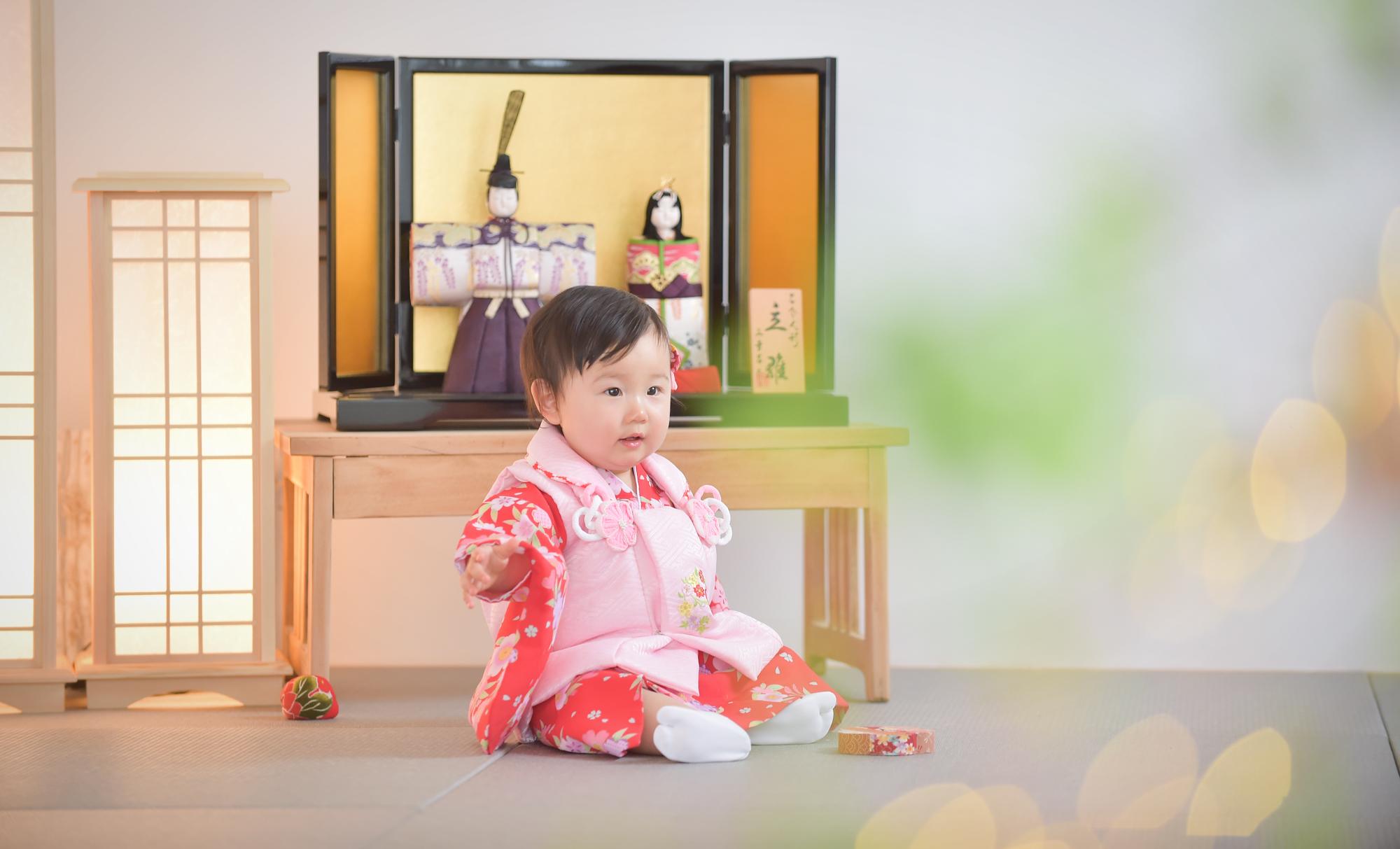 宝塚市 桃の節句 初節句 雛祭り 着物