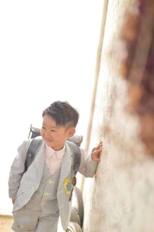 宝塚市 入学式 スーツ 写真撮影