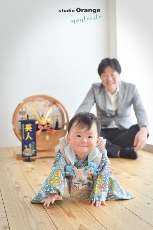宝塚市 端午の節句 父と息子