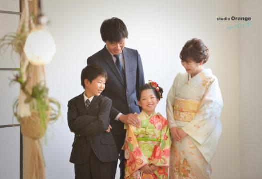 七五三前撮り 7歳 家族写真