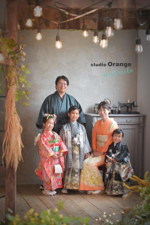 神戸市 七五三 家族写真