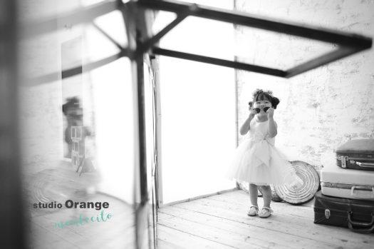 宝塚市 七五三 3才女の子 白のドレス