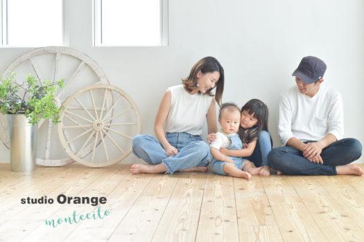 大阪市 バースデーフォト 自然な家族写真