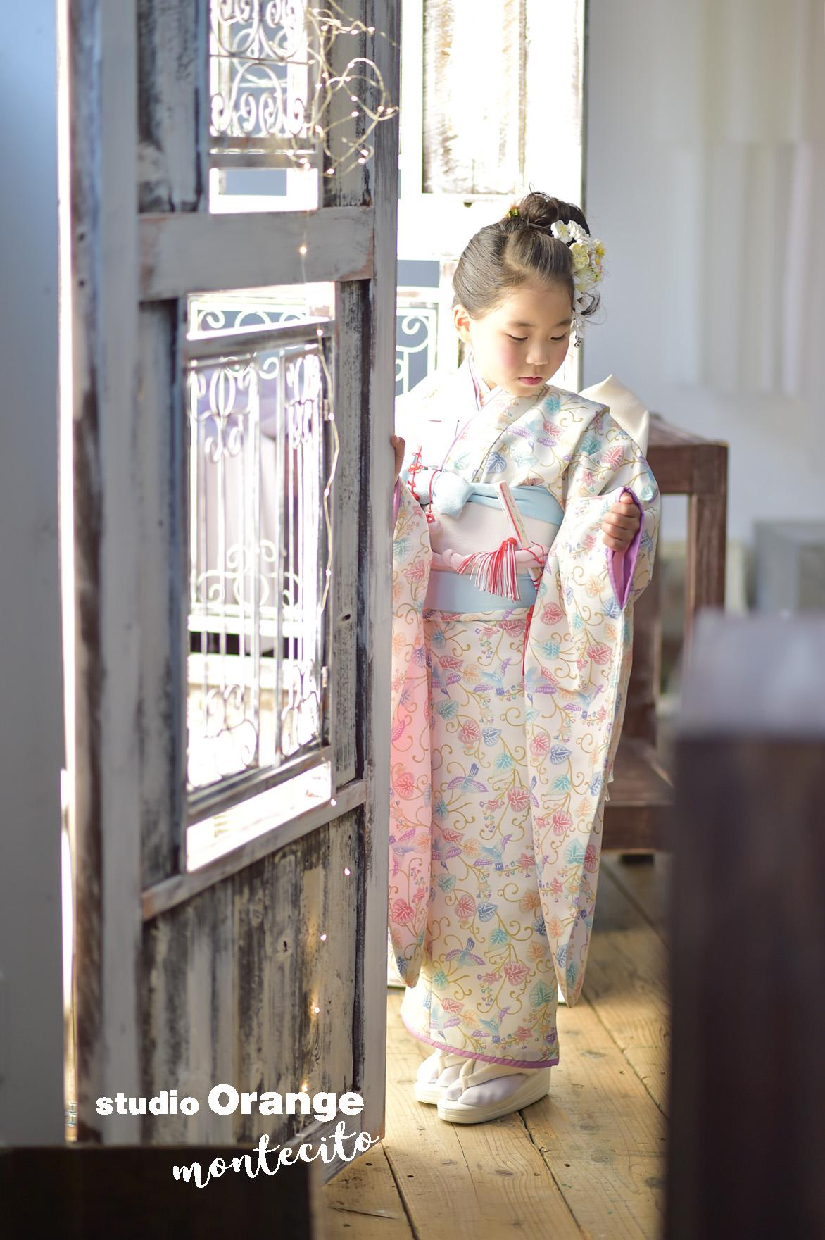宝塚市 七五三 7才 オリジナル着物