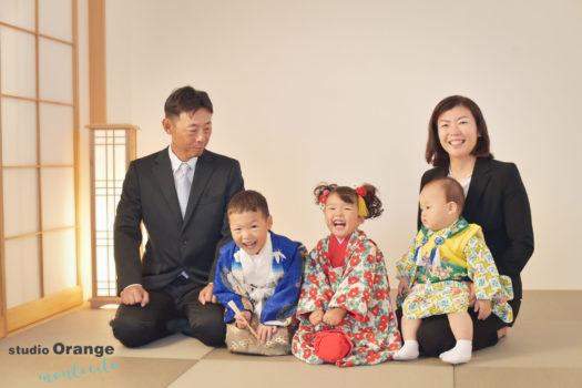 宝塚市 写真館 七五三 家族写真