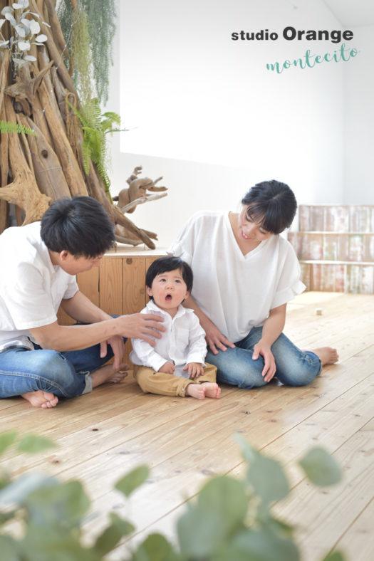 宝塚市 端午の節句 1才男の子 家族写真