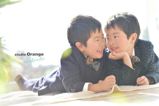 宝塚市 写真館 七五三 双子 兄弟