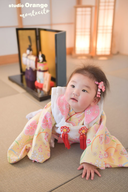 宝塚市 節句 端桃の節句 雛人形 スタジオオレンジモンテシート