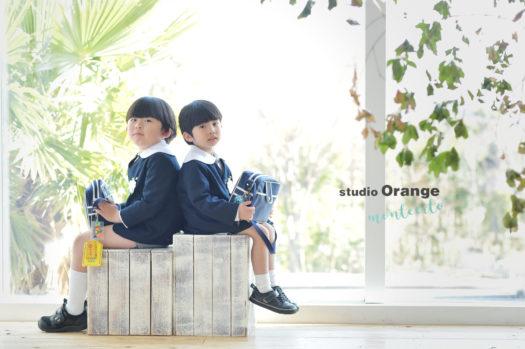 卒園 入学 卒業 写真館 スタジオオレンジモンテシート